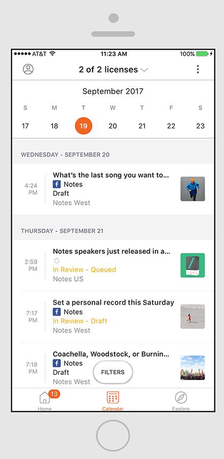 marketing activity calendar